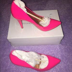 BCBG hot pink heels